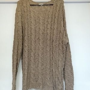 Sonoma brown knitted comfy sweater